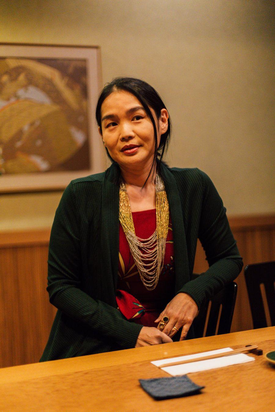 Há mais de dez anos ela é chef de cozinha e dona do restaurante japonês Aiozomê, em São