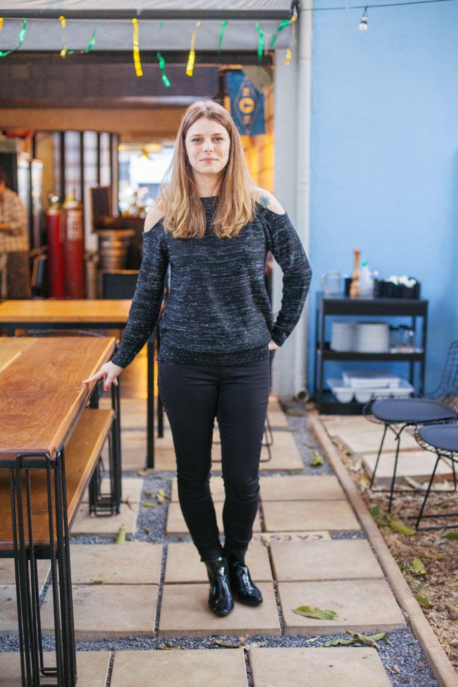 Marina é dona do bar Teta Cheese, em Brasília (DF). Lugar em que ela explora e valoriza sabores