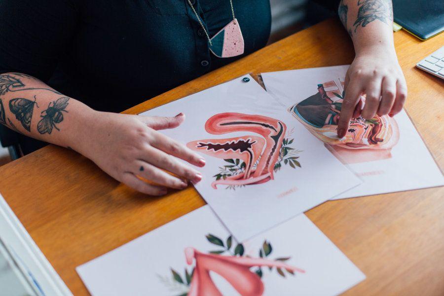 Um dos trabalhos mais recentes de Priscila é inspirado na pelve