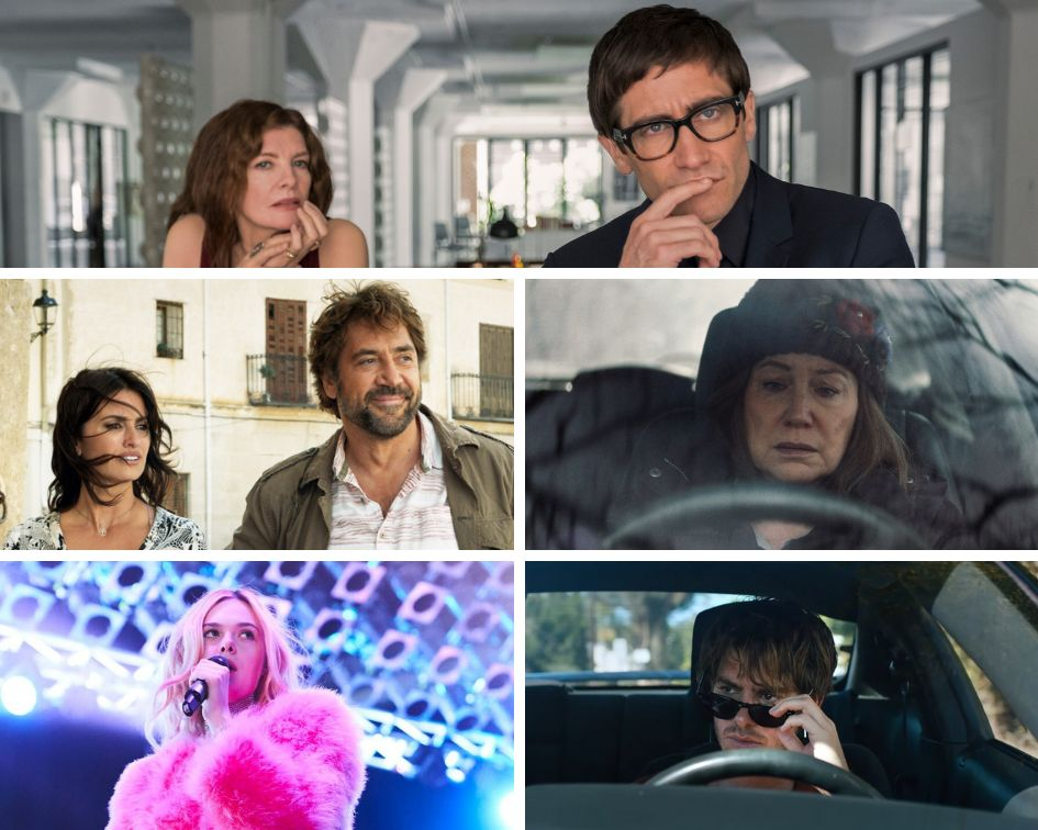 "Clockwise from top: ""Velvet Buzzsaw,"" ""Diane,"" ""Under the Silver Lake,"" ""Teen Spirit"" and ""Everybody Knows."""