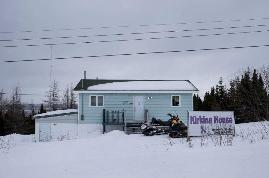 A Kirkina House, abrigo para vítimas de violência doméstica em Rigolet, Labrador, em 23 de março de