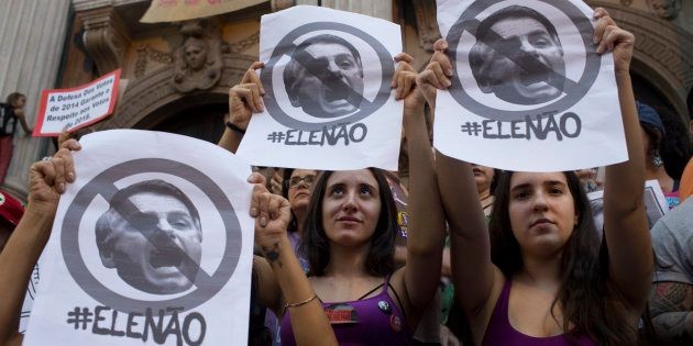 Milhares de mulheres foram às ruas pelo Brasil em 29 de setembro, em oposição ao candidato à Presidência...