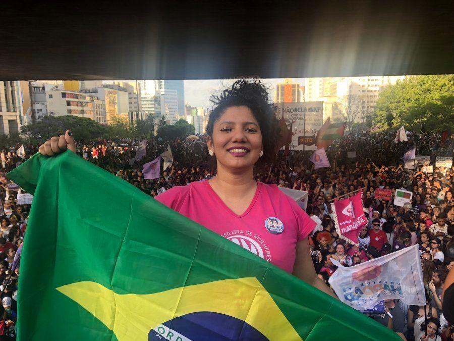 Maria das Neves, estudante de 31 anos, é uma das mulheres envolvidas na organização do