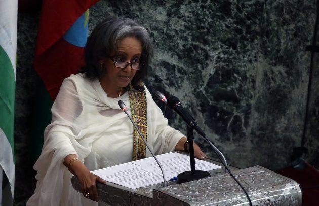 Sahle-Work em discurso no Parlamento da