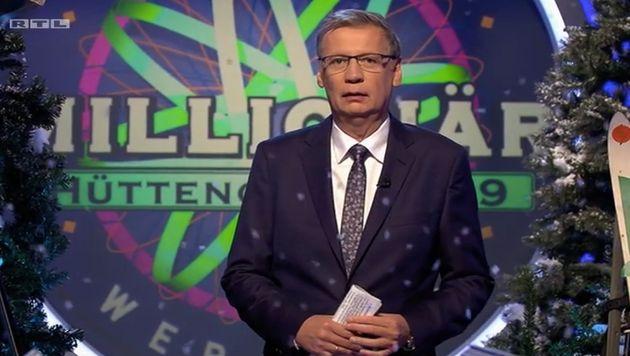 Moderator Günther Jauch präsentiert