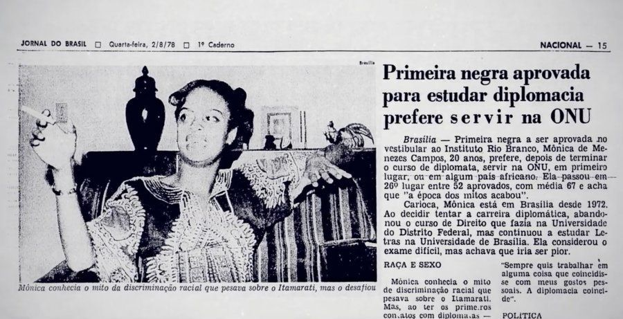 Mônica de Menezes Campos foi a primeira diplomata negra do