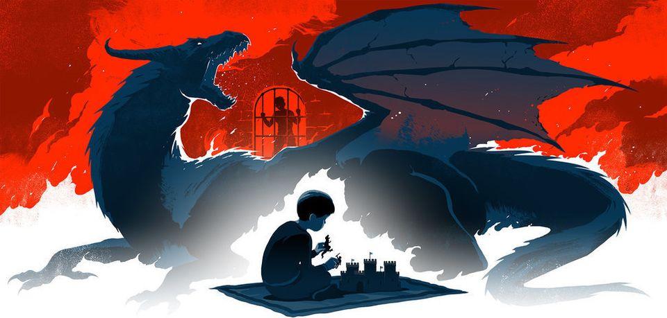 Xiyue Wangs Sohn glaubte, dass sein Vater von bösen Mächten in einem von einem Drachen bewachten Burgverließ gefangen gehalten wird.