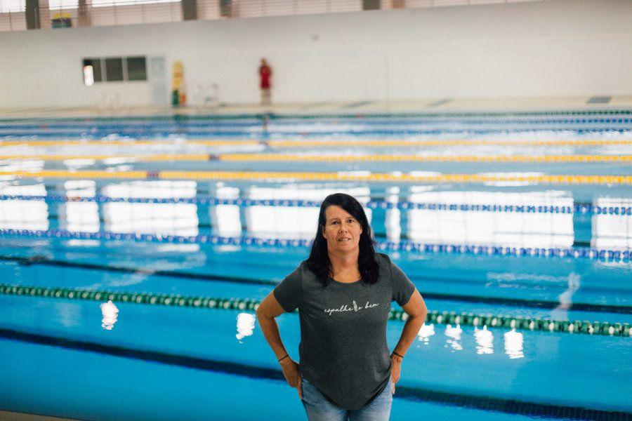 Sua rotina de treino é como a de qualquer atleta de alto rendimento - algo que ela conhece muito bem...