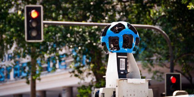 Câmera do Google Street View nas ruas do Rio de Janeiro, em
