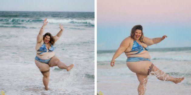 Dançarina da Anitta prova que a única coisa que você precisa para ir à praia é de um