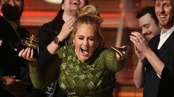 Adele quebrou o principal troféu do Grammy para dividir com