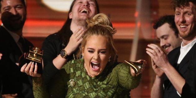 Adele emocionou Beyoncé em seu discurso na 59ª edição do