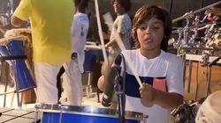 ASSISTA: Filho de Ivete Sangalo toca percussão e rouba a cena em