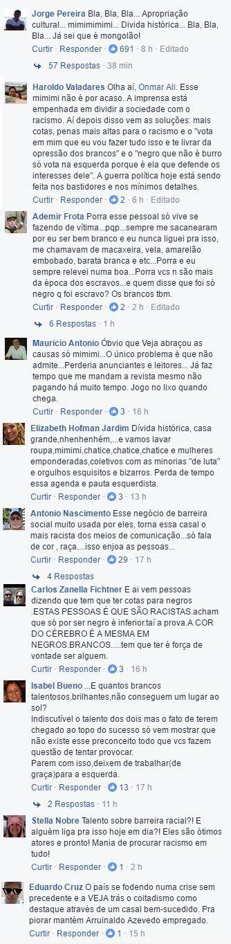 A capa da VEJA com Taís Araújo e Lázaro Ramos irritou muitos leitores da