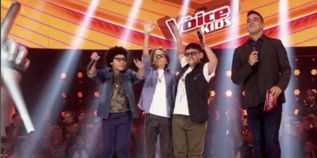 Arthur, Brunno e João emocionaram e agitaram a plateia do 'The Voice Kids' ao cantar Michael