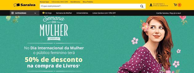 A promoção de uma livraria para o Dia da Mulher que exclui livros de exatas, idiomas e