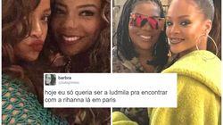 O reencontro de Ludmilla e Rihanna em Paris deu início à amizade mais desejada dos últimos