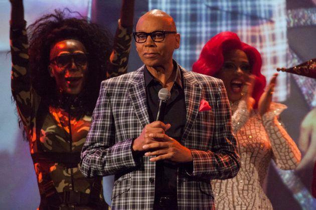 RuPaul na festa da première da nona temporada de seu programa, em Nova