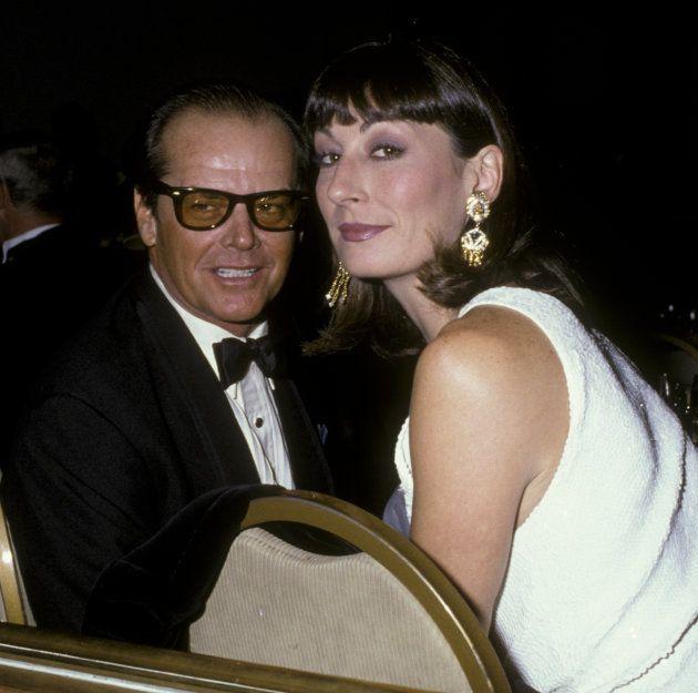 Jack Nicholson e a atriz Anjelica Huston ficaram juntos durante 17