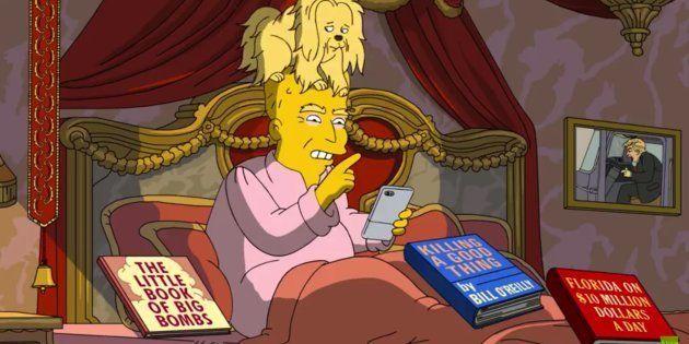 Na sátira, o cabelo de Trump, na verdade, é um