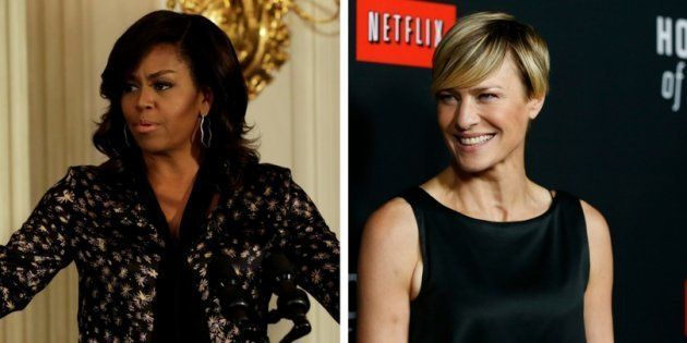 Para Robin Wright, Michelle Obama seria 'uma presidente