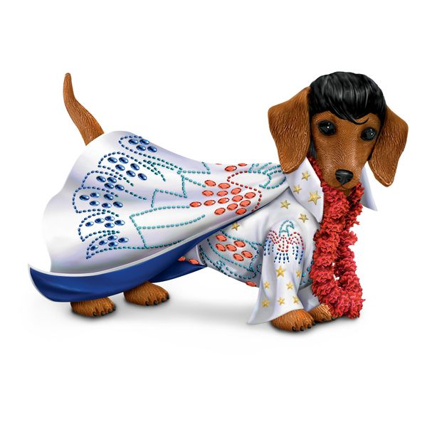 Think this pooch in this figurine ain't nothing but a hound dog? It's a dachshund, silly. Regardless, when your Valentine get