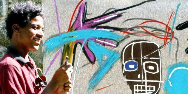 O artista Jean-Michel Basquiat em