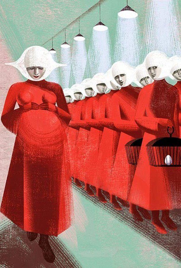 A ilustração acima, 'Pregnant', foi feita pelas artistas Anna e Elena Balbusso, para edição internacional...