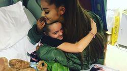 Ariana Grande fez uma visita surpresa aos fãs feridos em atentado do show em