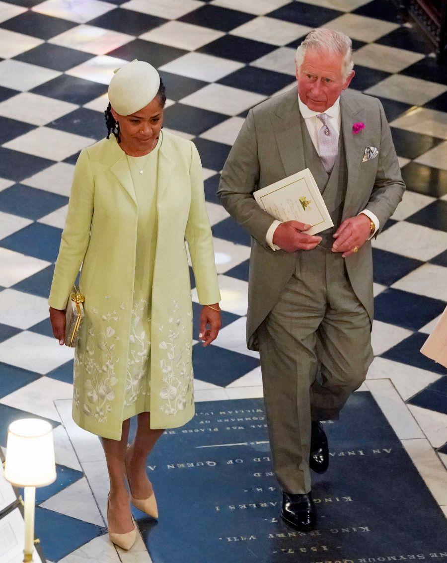 Príncipe Charles com a mãe de Meghan Markle, Doria