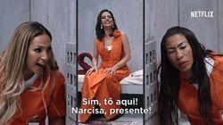 'Ai, que loucura Litchfield': Narcisa, Valeska e Inês Brasil são 'presas' em