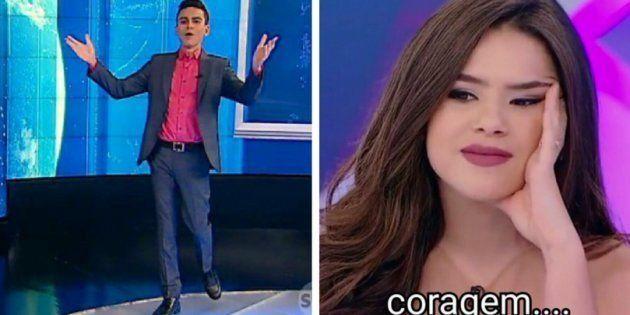 O apresentador acabou revelando a resposta que deu à atriz no programa de Silvio Santos do último domingo