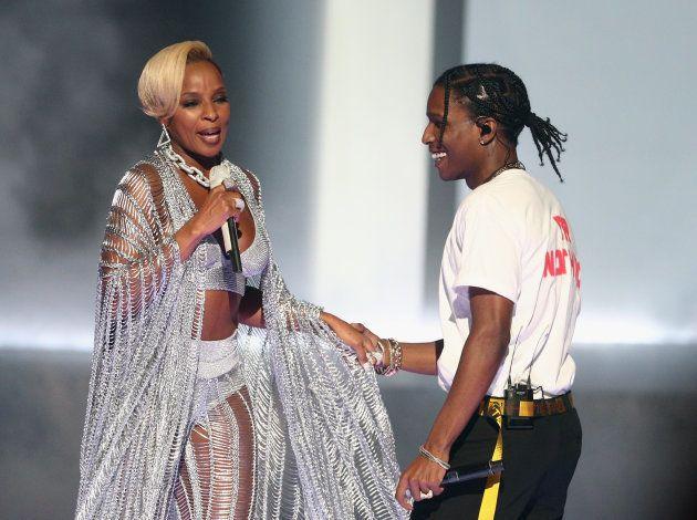 Mary J. Blige fez performance ao lado de A$AP
