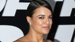 A atriz Michelle Rodriguez tem uma ótima razão para sair de 'Velozes e