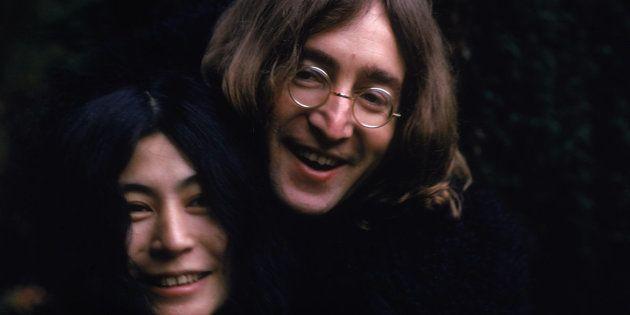 John Lennon e Yoko Ono, em