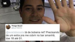Bar, miçangas e gravatas: Evaristo Costa já começou a receber ofertas de