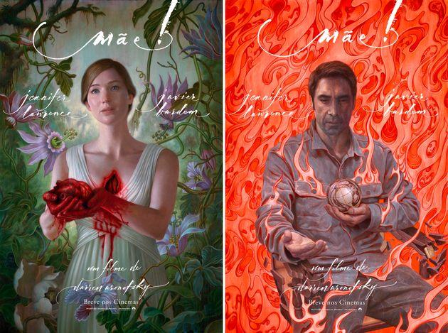 Cartazes oficiais dão pistam da atmosfera do novo suspense do diretor de 'Cisne