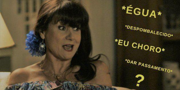 Dona Edinalva, interpretada por Zezé Polessa, está sempre despombalecida na novela. E aí, sabe o que...