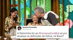 O encontro de Bela Gil e Palmirinha no 'Conversa com Bial' fez o público suspirar