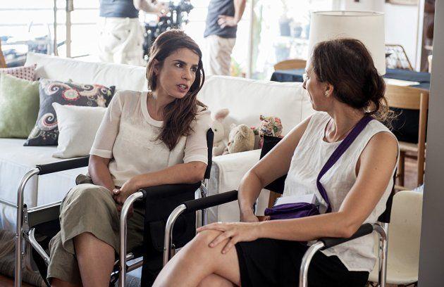 Ribeiro (à esq.) e Bodanzky no set de filmagens em São