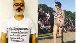 O protesto contra Temer e a diversidade no desfile de Ronaldo Fraga na