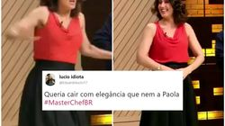 É oficial: Paola Carosella não perde a elegância nem levando tombo no