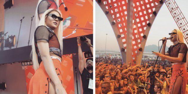 Pabllo Vittar na estreia do festival Rock in