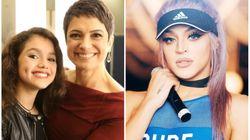 Sandra Annenberg e a filha Elisa tietando Pabllo Vittar é muito 'gente como a