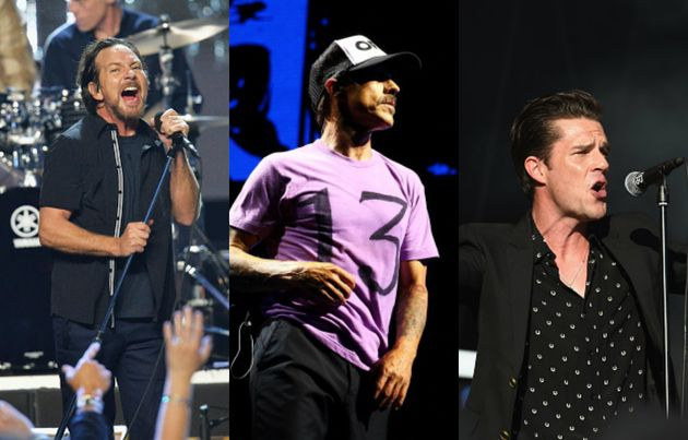 Pearl Jam, Red Hot Chili Peppers e The Killers serão os headliners do
