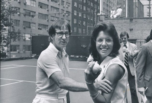 ABC SPORTS - PRESS EVENT FOR 'BATTLE OF THE SEXES' TENNIS - On 9/20/73 A crowd of 30,472 and an estimated...