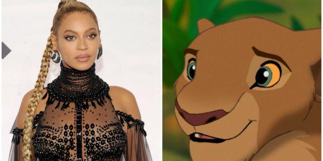 Beyoncé dará voz a leoa Nala, um das protagonistas de 'O Rei