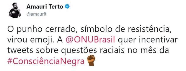 O símbolo de resistência negra que virou emoji em ação da ONU no