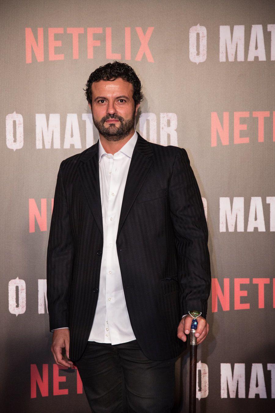 Marcelo Galvão no tapete vermelho de 'O Matador', em São Paulo, na última quarta-feira