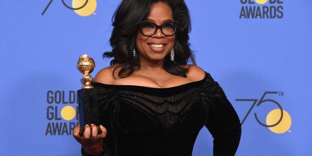Oprah ganhou o prêmio Cecil B. DeMille na 75ª edição do Globo de